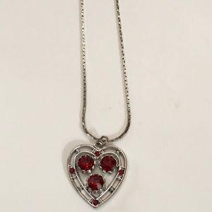 Jewelry - Red Stone Set of Necklace, Earrings & Bracelet